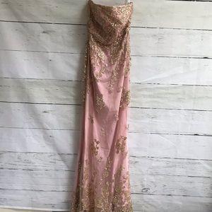 minuet Dresses - NWT Minuet gown light pink/gold glitter size small